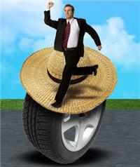 Sur les chapeaux de roues